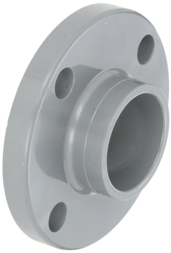 Slip Flange - GF Piping Systems CPVC Pipe Fitting, Solid Flange, Schedule 80, Gray, 2