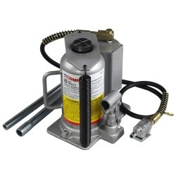 OTC (OTC4321C) 20 Ton Air-Assist Hydraulic Bottle Jack (Ton Assist Air)