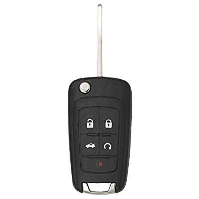 Keyless2Go New Keyless Remote 5 Button Flip Car Key Fob for Vehicles That Use FCC OHT01060512 (2 Pack): Automotive