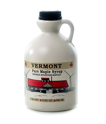 (Georgia Mountain Maples of Vermont, Organic Maple Syrup, Dark Color Robust Taste, 32 Ounce)