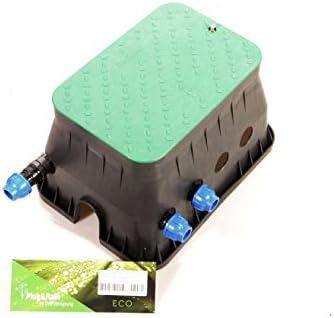 """Ventilbox ECO - 2 x Hunter PGV-100-MM Magnetventil (2 Zonen), mit 25 mm (3/4"""") Anschlüssen für PE-Rohr Bewässerung. 24 VAC Ventilschacht DVS-Beregnung"""