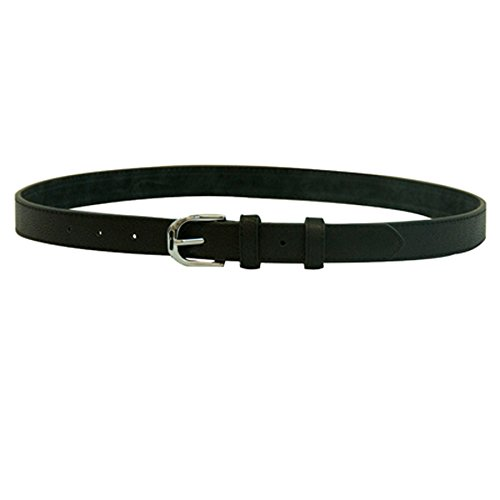 Winners Outer Wear Leather Belt with Stirrup Buckle, Black, 36