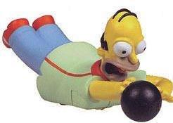 The Simpsons Mini HOMER SIMPSON Bobble Head (Krusty Bobble Head)