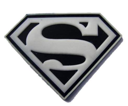 Superman Military PVC Patch Rubber Badges Patch Tactical Stickers for Clothes Back with Hook (color4) -