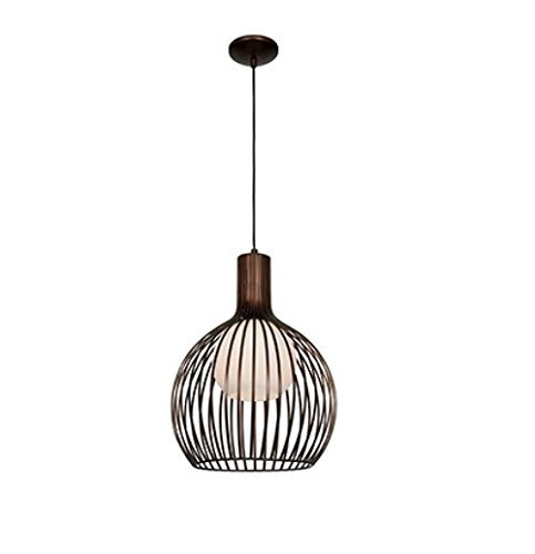 Access Lighting 23435-BRZ/OPL Chuki One Light 15-Inch Diameter Pendant with Opal Glass Shade, Bronze Finish by Access Lighting
