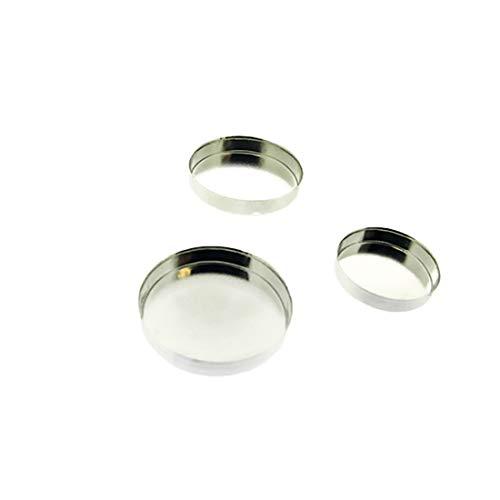 (Bedrock Jewelry Fine Silver .999 Round Bezel Cup Setting, Sizes 3mm, 4mm, 5mm, 6mm, 8mm (4.00))