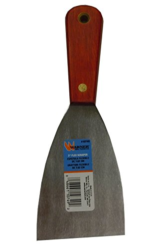 Warner Tool 10749 Rosewood Series 3-Inch Flex Putty Knife with Stainless Steel Blade