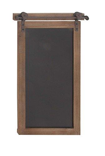 (Deco 79 84252 Rectangular Wood and Metal Chalkboard, 28