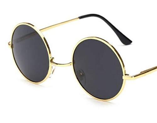del de redondas Guay Huyizhi del de viajar para marco la para hombres UV400 Golden Gafas Mujeres retro los sol Gafas protección de conducción estilo I8p8qP