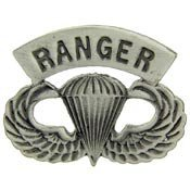 Metal Lapel Pin - US Army Pin - US Army Ranger Paratrooper Wings 1-1/2