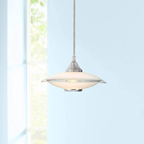 (Possini Euro Satin Nickel and Glass Mini Pendant Chandelier - Possini Euro Design)