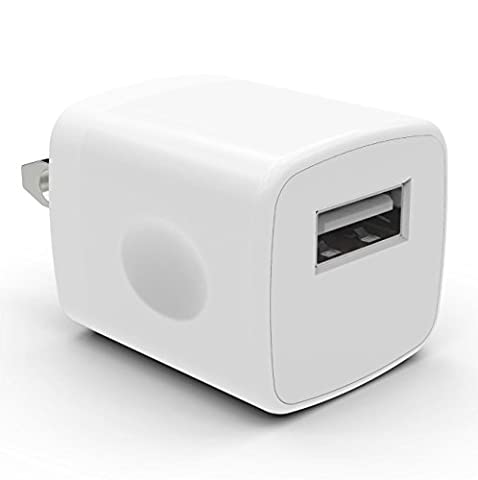 Universal USB Port Colors USB AC/DC Power Adapter Home Wall Charger Plug W/ Easy Grip for iPhone 7/7 plus 6/6 plus Samsung Galaxy S5 S4 S3¡-1PC (Smartphone Wall Plug)