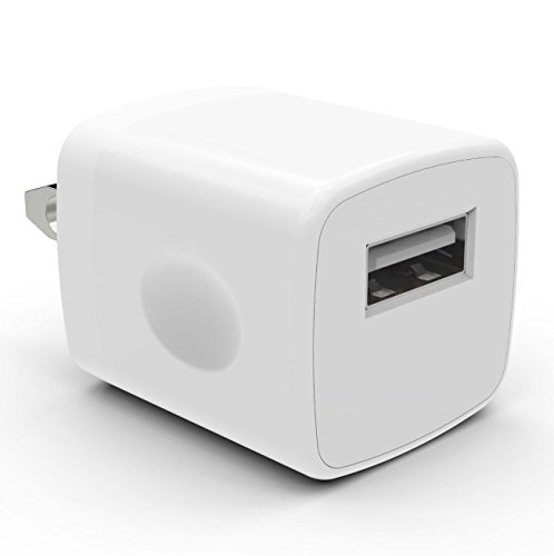1PC White Universal USB Port Colors USB AC/DC Power Adapter Home Wall Charger Plug W/ Easy Grip for iPhone 7/7 plus 6/6 plus Samsung Galaxy S5 S4 S3¡­ (Ac Plugs And Usb Ports compare prices)