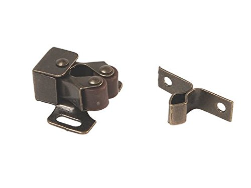 RV Designer H201, Roller Catch with Prong, Antique Brass, 2 Per Pack, Cabinet Hardware