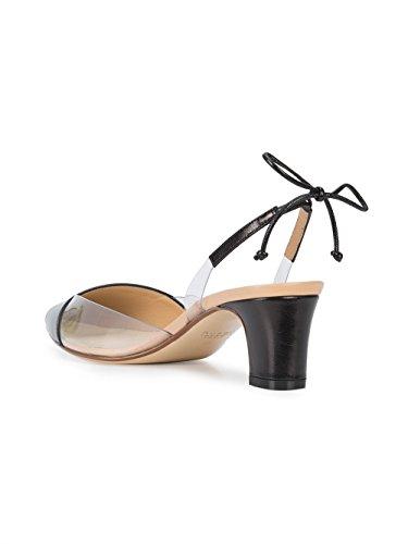 RUSSO FRANCESCO Chaussures R1P355200 Cuir Noir À Talons Femme ZdUqrd