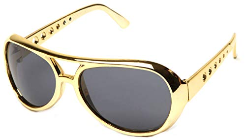 WebDeals - Classic Elvis Style Celebrity Aviator Shades (Gold, ()