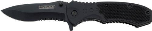 TAC FORCE BLACK TACTICAL Pocket Knife Folding Blade NEW! (Blade Pocket Knife Black Folding)