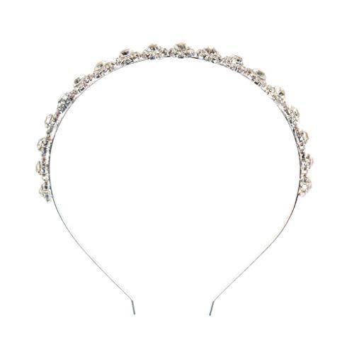 Bridal Bridesmaid Sparkle Jeweled Rhinestone Headband Wedding Prom Hairband (Color - Silver)