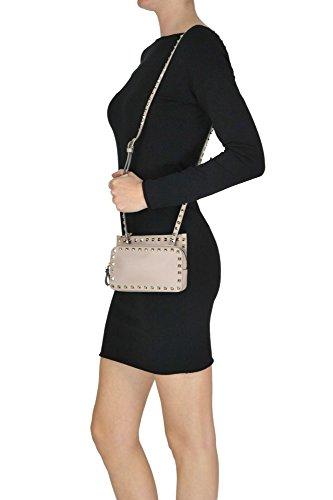 Hombro Bolso De Cuero Valentino Mujer MCGLBRE04018I Rosa 1BgnAUW