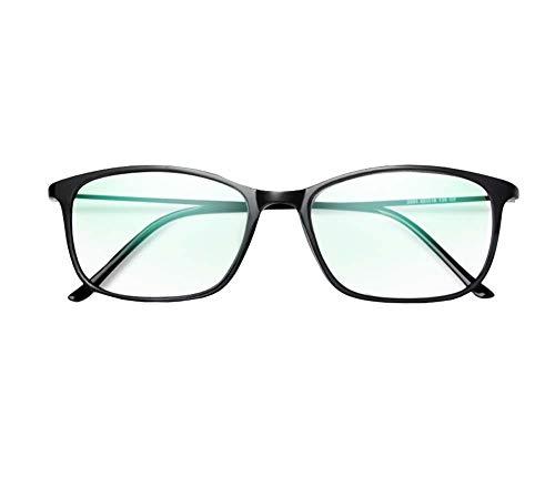 (Black Blocking Blue Reading Glasses, Relieve Eye Fatigue Progressive Resin Lens Tungsten Titanium Frame Spring Glasses Ultra-Light Reading Glasses,+2)