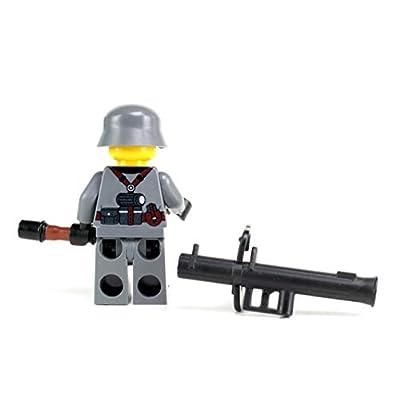 Battle Brick German WW2 Anti-Tank Soldier (SKU23) Custom Minifigure: Toys & Games