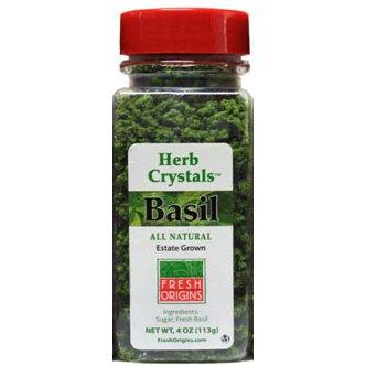 Basil Herb Crystals, Coarse - 4 Oz (Pack of 6)