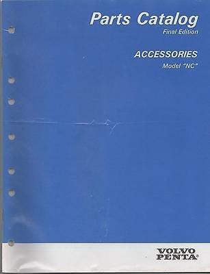 1996 VOLVO PENTA STERN DRIVE ACCESSORIES P/N 7797270-1 PARTS MANUAL (706)