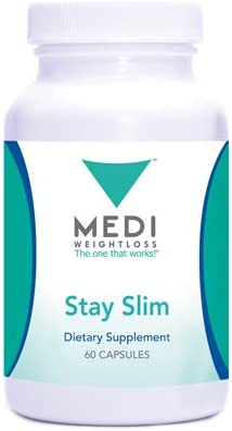 Medi-Weightloss Stay Slim Natural Appetite Suppressant, Hoodia Gordonii Green Tea Extract, 60 Capsules – Diet Supplement