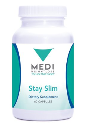 Medi-Weightloss Stay Slim Natural Appetite Suppressant, Hoodia Gordonii & Green Tea Extract, (60 Capsules) - Diet Supplement by Medi-Weightloss