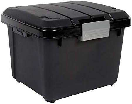 カーオーガナイザートランク 蓋付きの多目的車のトランク収納オーガナイザー - ショッピングキャンプピクニックホームガレージのためのポータブルカーストレージボックスビンSUVバン・カーゴキャリアキャディー -カーアクセサリー (Color : A, Size : 42x37x33cm)