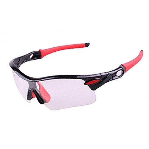 Color De Montaña Bicicleta De Deportes Libre para Cortavientos de Sol De black Gafas Al Descolorido Gafas De Aire Gafas Sol Red Montar Gafas Red LBY Hombre aE6BZqwn