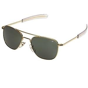 10700 Genuine Air Force Pilots Sunglasses AO (Gold,57MM)