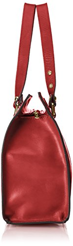 100 CTM 38x27x12cm in Italy Made Rosso véritable classique cuir Rouge femme Sac 6wqg6Sp