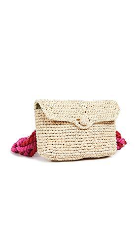 Nannacay Women's Lili Pochette Toquila Bag, Off White/Red/Pink, One Size