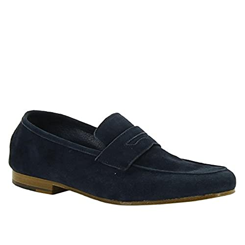 b7aa4b7ce1e durable modeling Andrea Ventura Firenze Men s Chamois Leather Loafers Shoes