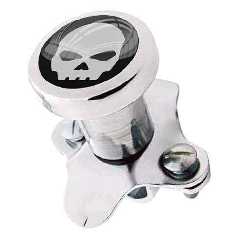 TrickToppers Billet Aluminum Polished Steering Wheel Spinner Suicide Brody Knob for Hot Rod Customs Car Truck SUV Tractor Trailer Big Rig Boat and More - Vintage Grey Skelton Skull G