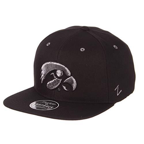 - Zephyr NCAA Iowa Hawkeyes Men's Z11 Ebony Snapback Cap, Adjustable, Black
