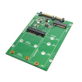 - ChenYang 2 in 1 Combo Mini PCI- E 2 Lane M.2 NGFF & mSATA SSD to SATA 3.0 III Adapter Converter PCBA