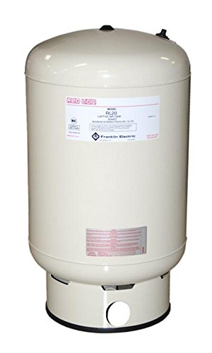 Red Lion RL20 Vertical Precharged Diaphragm Well Tank, 20-Gallon (Cistern Water Tank)
