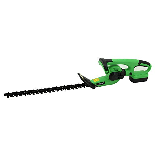 EAST® ET1305 20-Inch 18-Volt Lithium-Ion Cordless Hedge Trimmer with Rotating Handle and Dual Blade Action Blades by East