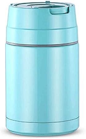 Kk 保冷ランチバッグや携帯用器具とのランチボックススタッカブルステンレス鋼熱ランチボックス、子供のための漏れ防止ランチコンテナ、大人、男性、女性 (Color : Blue)