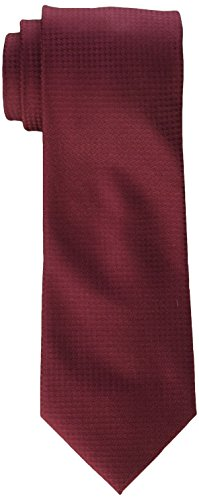 Gingham Silk - Calvin Klein Men's Hc Modern Gingham Tie, Burgundy, X-Long