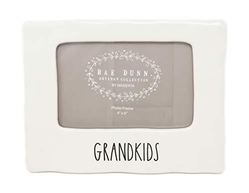 DR Rae Dunn by Magenta Grandkids Ceramic LL 4 x 6 Photo Frame