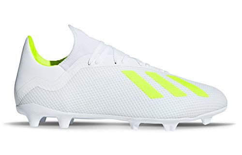 adidas X 18.3 FG Football Boots - Mens - White/Solar Yellow/White - UK 9