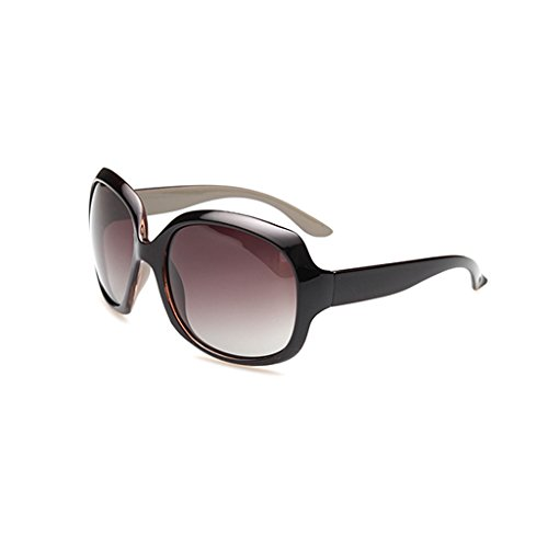 FstFshion Vintage Women Polarized UV400 Gradient Full-rim Oversized Sunglasses (Streamline Polarized Sunglasses)