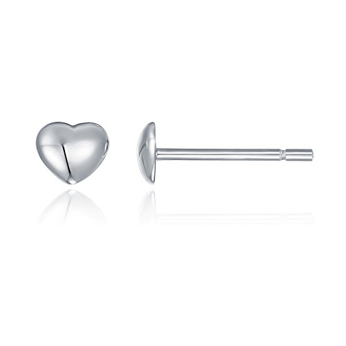 PAVOI 14K Gold Plated Valentines Heart Stud Earrings - White