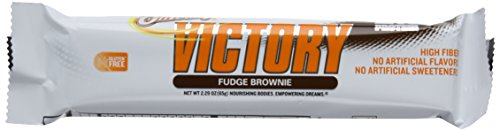 OhYeah! Victory Bars, Fudge Brownie, 12 Count, 2.29 Ounce by ISS Research