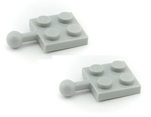 lego-parts-plate-modified-2-x-2-with-towball-pack-of-2-lbgray