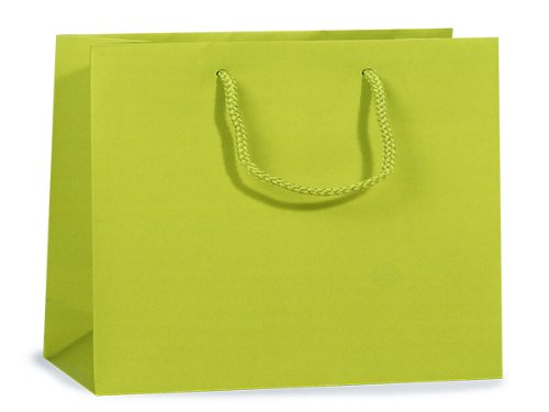 Lime Matte Medium Gift Bags 100 13x5x10'' (Unit Pack - 100)