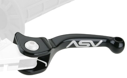 (ASV Inventions CBF35-K F3 Black Shorty Standard Perch Clutch Lever and Front Drum Brake Lever for Honda/Yamaha/Suzuki/Kawasaki)